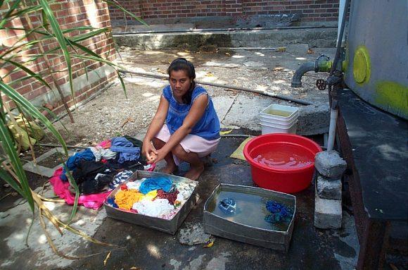 Washing-clothes-Banaba-Kiribati